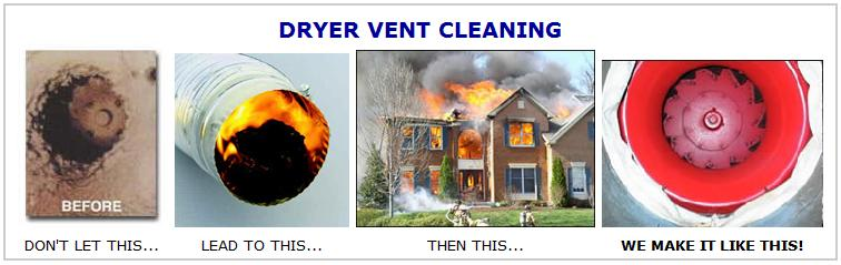 Give us a call and let us service your dryer vent today.